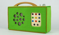 Un sac de protection en feutre vert pour hörbert