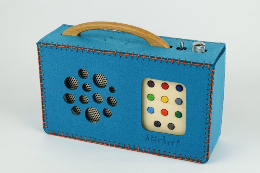 Blue hörbert felt bag