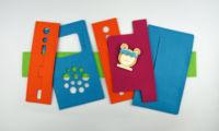 Des pièces de feutre colorées pour un sac hörbert