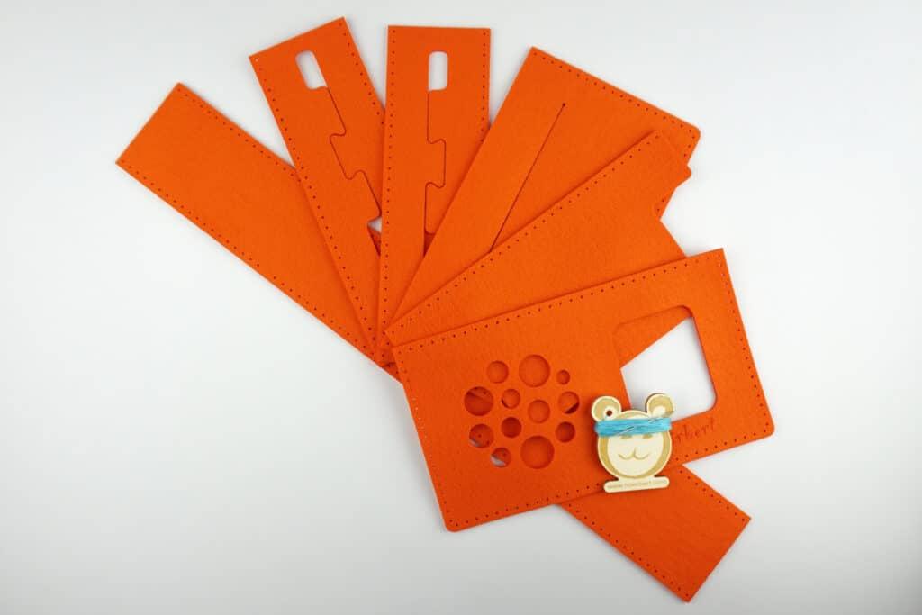 Filz, Nadel und Faden für eine hörbert-Filztasche