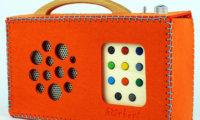 Orange Filztasche für hörbert