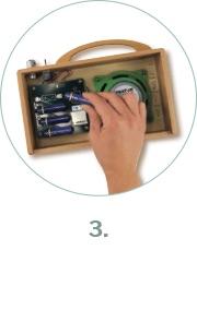 Einlegen der Batterien oder Akkus