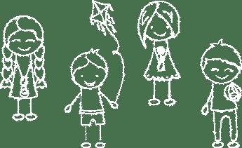 Illustration : enfants dessinant des lignes