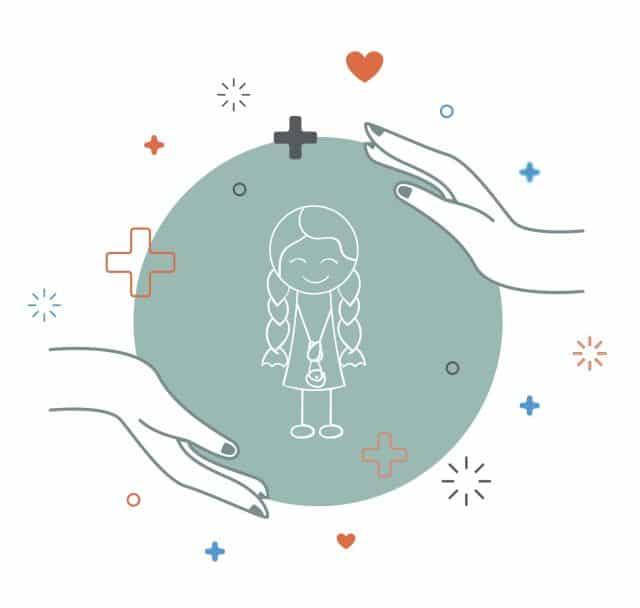 Illustration: Kind im Kreis