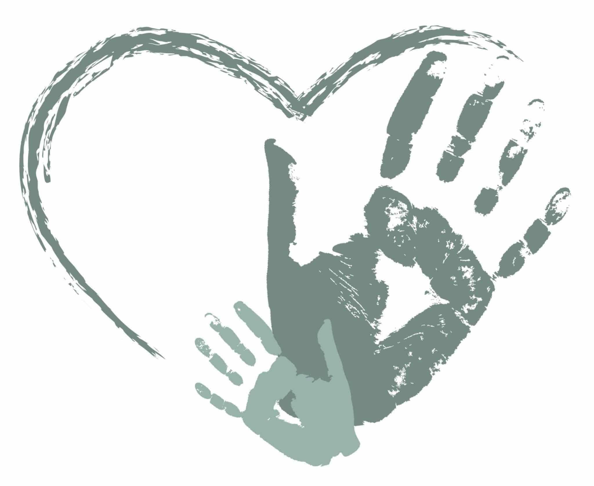 Illustration: Herz aus Händen