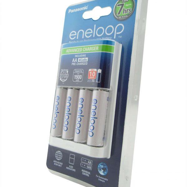 Chargeur Eneloop avec piles AA