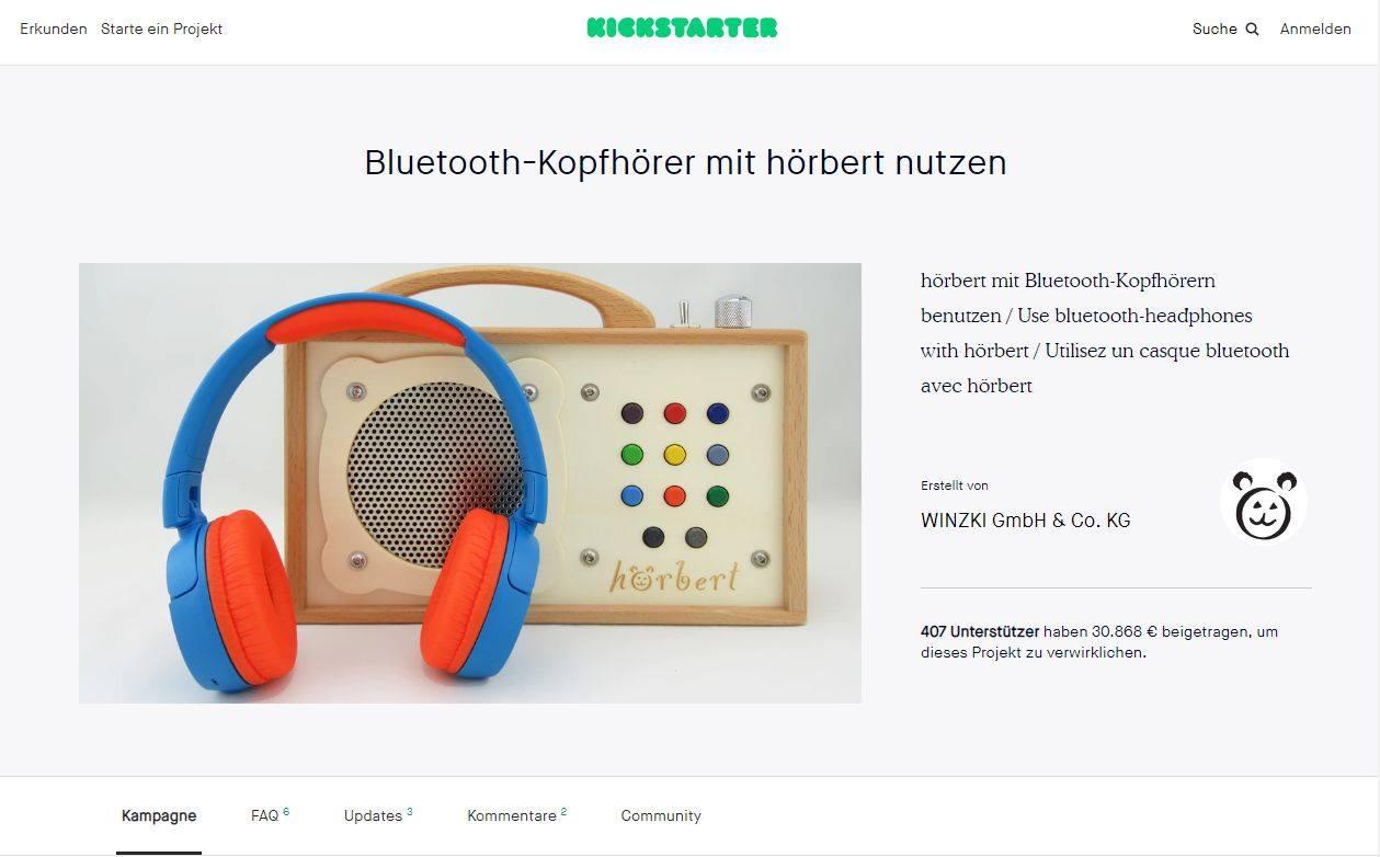 10 Jahre hörbert Kickstarter Kampagne Bluetoothmodul